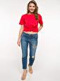 DeFacto Kısa Kollu T-shirt Kırmızı